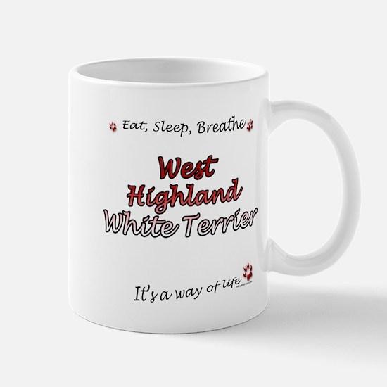 Westie Breathe Mug