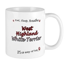 Westie Breathe Small Mug