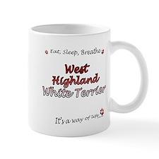 Westie Breathe Small Mug
