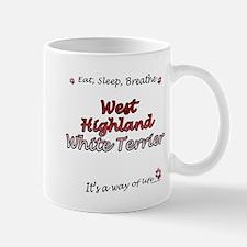 Westie Breathe Small Small Mug