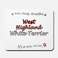 Westie Breathe Mousepad