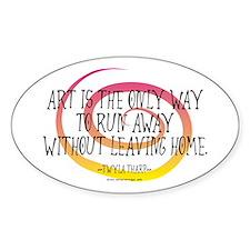 Runaway Artist II Oval Bumper Stickers