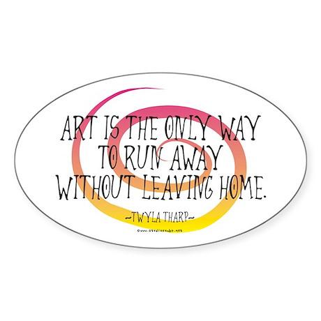 Runaway Artist II Oval Sticker