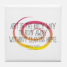 Runaway Artist II Tile Coaster