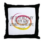 Runaway Artist II Throw Pillow
