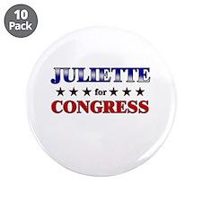 """JULIETTE for congress 3.5"""" Button (10 pack)"""