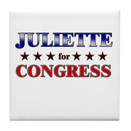JULIETTE for congress Tile Coaster