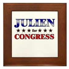 JULIEN for congress Framed Tile