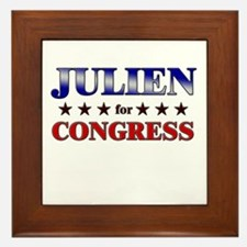 JULIEN for congress Framed Tile