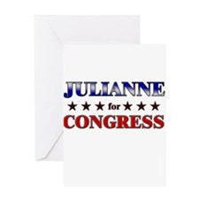 JULIANNE for congress Greeting Card
