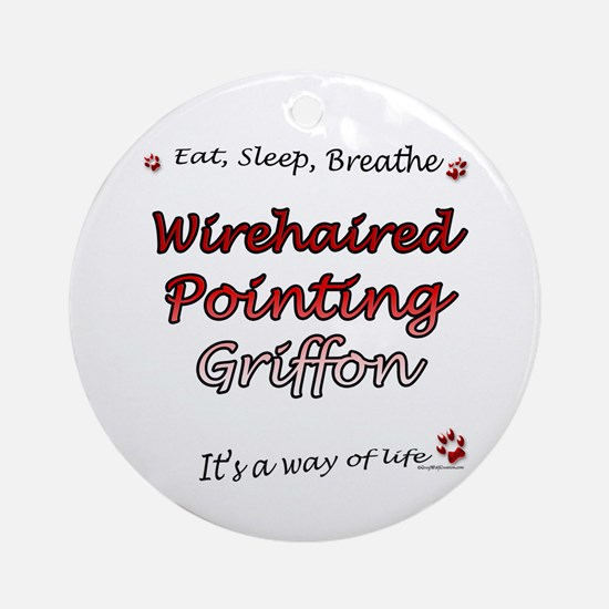 Wirehaired Breathe Ornament (Round)