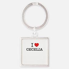 I Love CECELIA Keychains