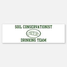 Soil Conservationist Drinking Bumper Bumper Bumper Sticker