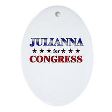JULIANNA for congress Oval Ornament