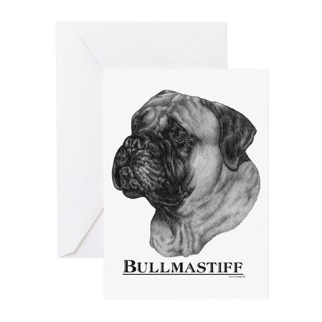 Bullmastiff Breed Greeting Cards (Pk of 10)