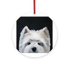 WESTIE DOG Ornament (Round)