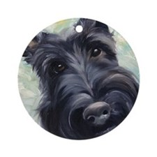 Scottie Scottish Terrier DOG Ornament (Round)