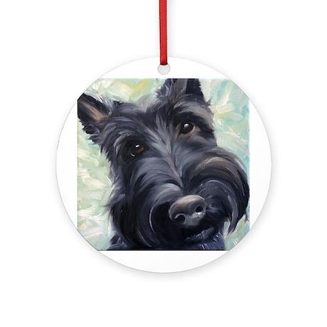 Scottie Scottish Terrier DOG Ornament (Round)
