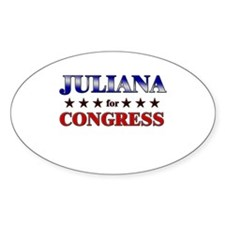 JULIANA for congress Oval Decal