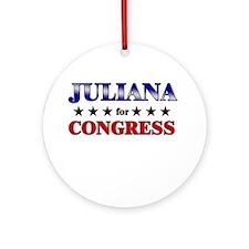 JULIANA for congress Ornament (Round)