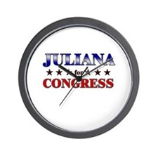 JULIANA for congress Wall Clock