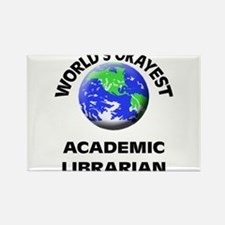 World's Okayest Academic Librarian Magnets