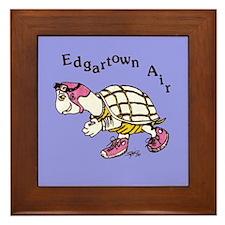 Edgartown Air Turtle Logo Framed Tile