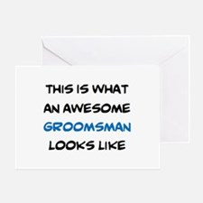 awesome groomsman Greeting Card