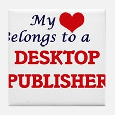 My heart belongs to a Desktop Publish Tile Coaster