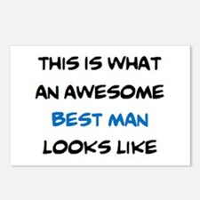 awesome best man Postcards (Package of 8)
