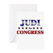 JUDI for congress Greeting Card