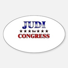 JUDI for congress Oval Decal