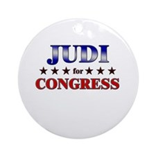 JUDI for congress Ornament (Round)