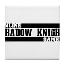 Shadow Knight Online Gamer Tile Coaster