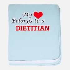 My heart belongs to a Diplomat baby blanket