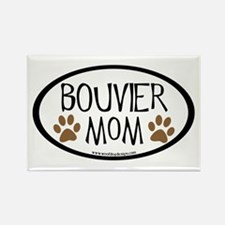Bouvier Mom Oval Rectangle Magnet (10 pack)