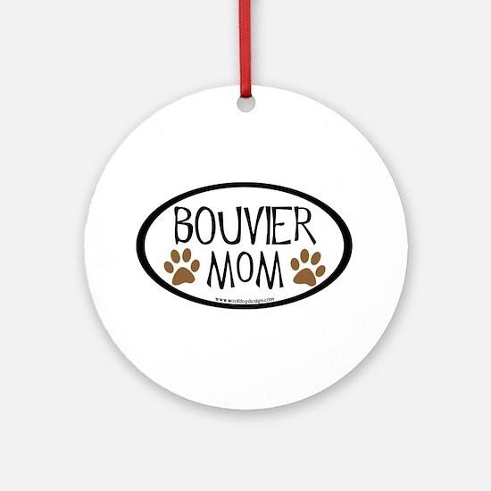 Bouvier Mom Oval Ornament (Round)