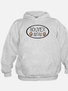 Bouvier Mom Oval Hoodie