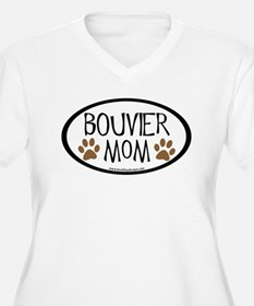 Bouvier Mom Oval T-Shirt