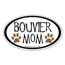 Bouvier Mom Oval (inner border) Oval Decal