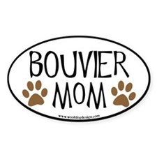 Bouvier Mom Oval (black border) Oval Decal