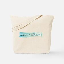 Unwritten logo Tote Bag