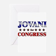 JOVANI for congress Greeting Card