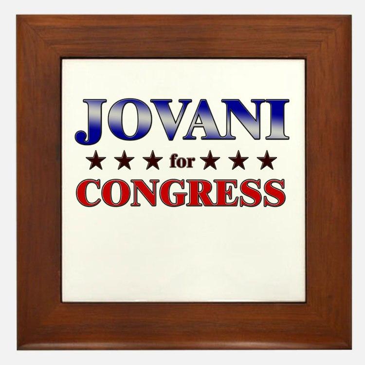 JOVANI for congress Framed Tile