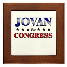 JOVAN for congress Framed Tile