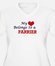 My heart belongs to a Farrier Plus Size T-Shirt
