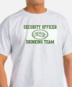 Security Officer Drinking Tea T-Shirt