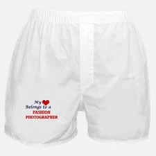 My heart belongs to a Fashion Photogr Boxer Shorts