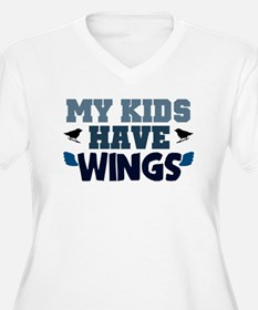 'My Kids Have Wings' Plus Size T-Shirt