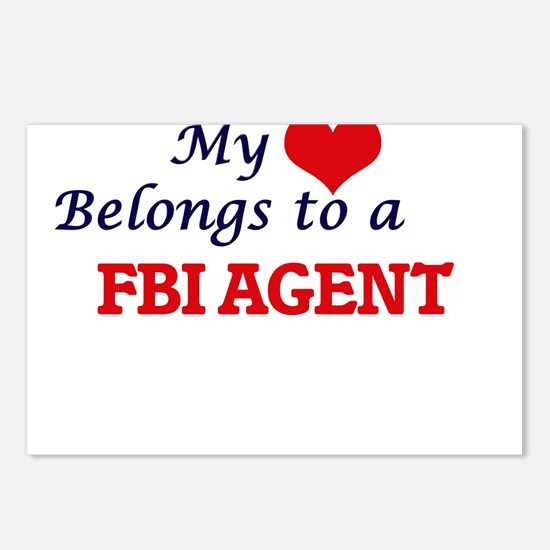 My heart belongs to a Fbi Postcards (Package of 8)